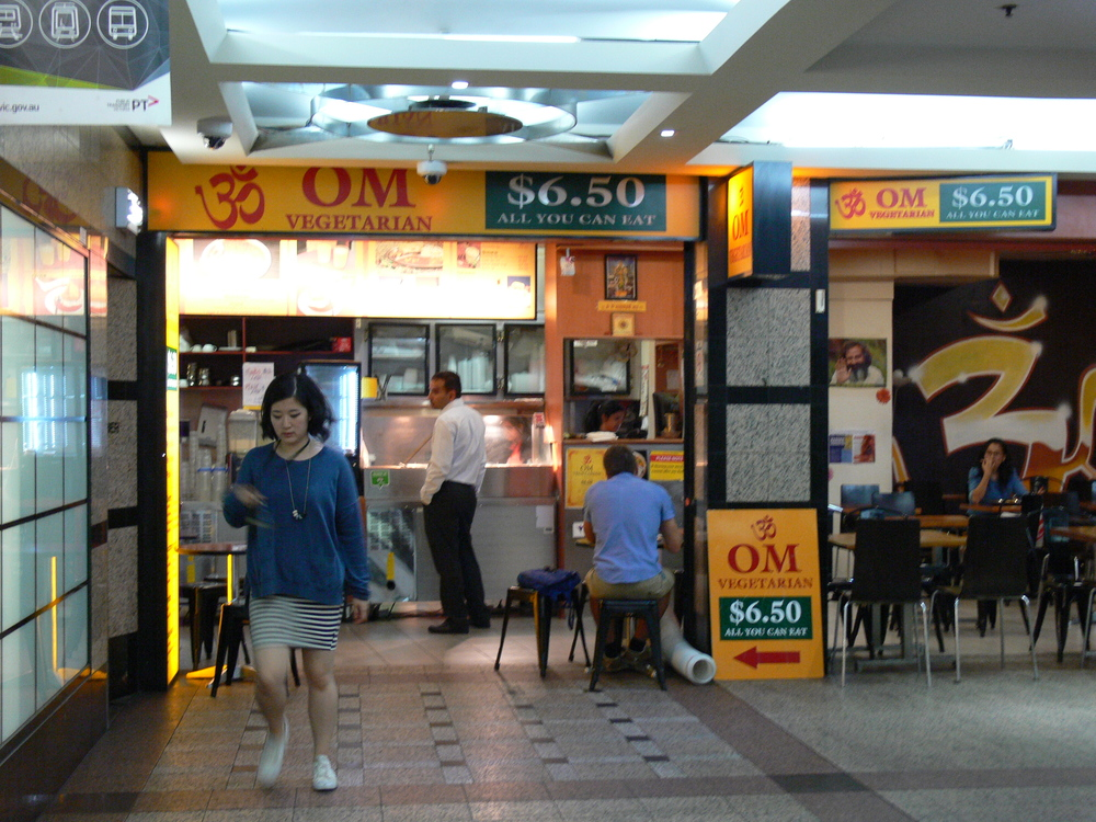 Om Vegetarian Wales Arcade Restaurant at 227 Collins St