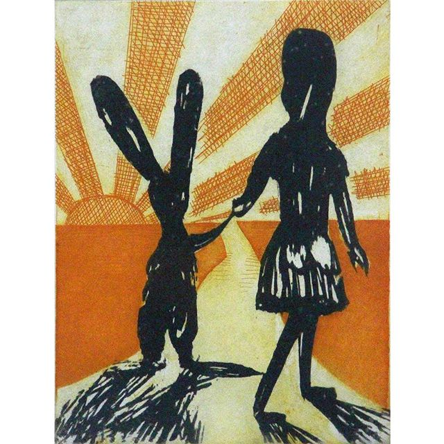 "RIP #charlesblackman , one of our favourite Aussie artists, who passed today. And this is one of our favourite prints, ""Alice's Farewell"" in the @orangeregionalgallery collection."