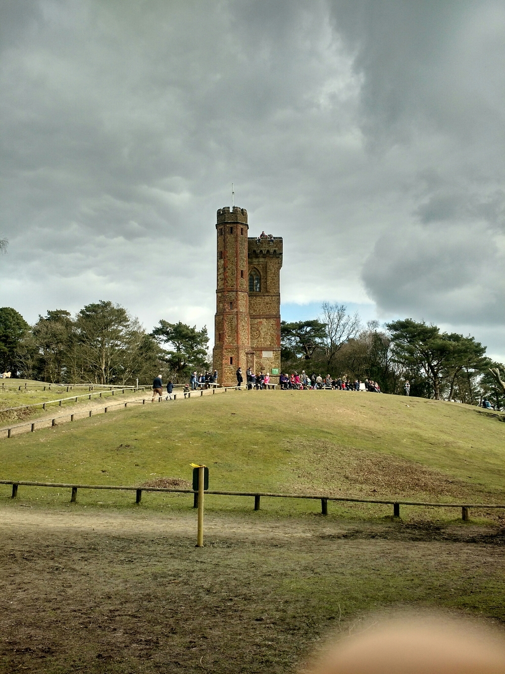 The top of Leith Hill.