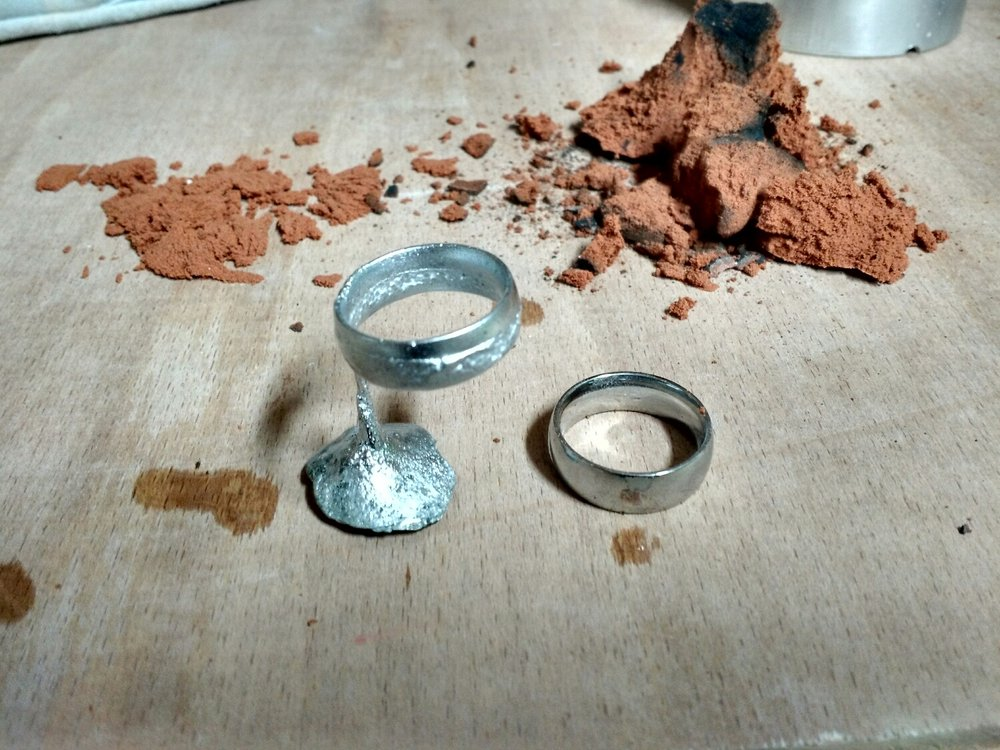 ring with sprue still attached