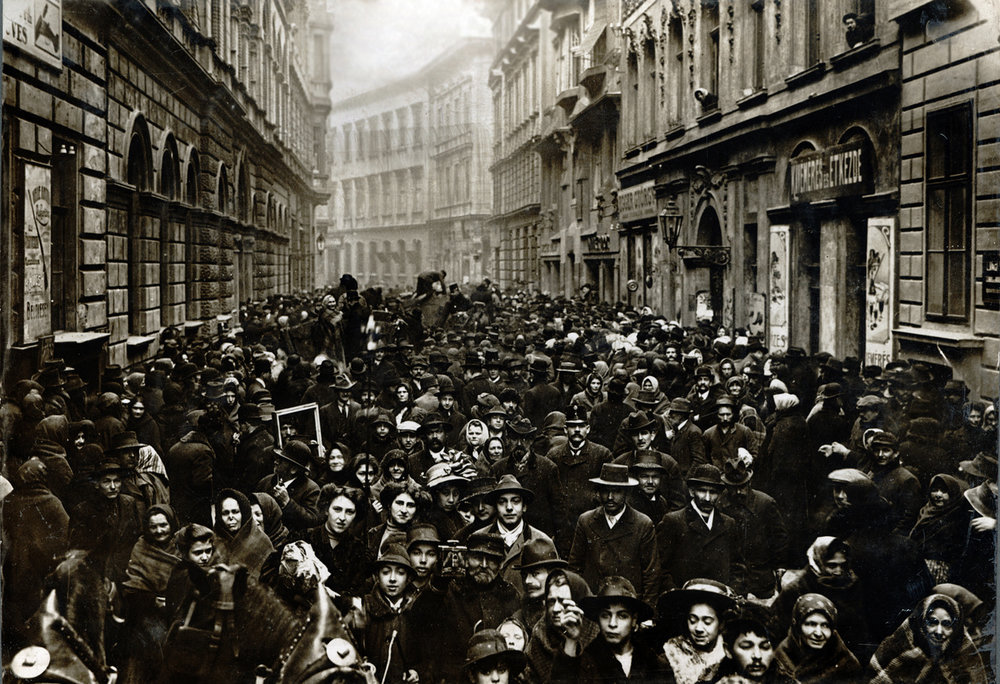 Jewish Street Celebration, 1911, János Müllner, collection of the Kiscelli Museum