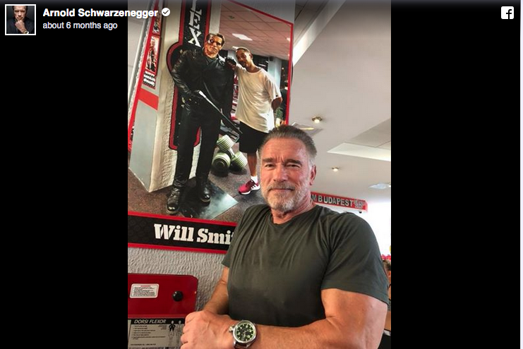 via Arnold Schwarzenegger's Facebook page