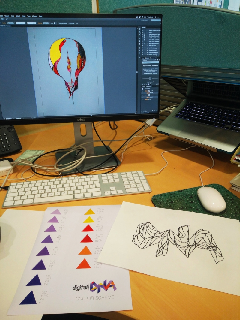 The Crazy Idea Stage - Sketching, drawing and collating some of the colour palettes