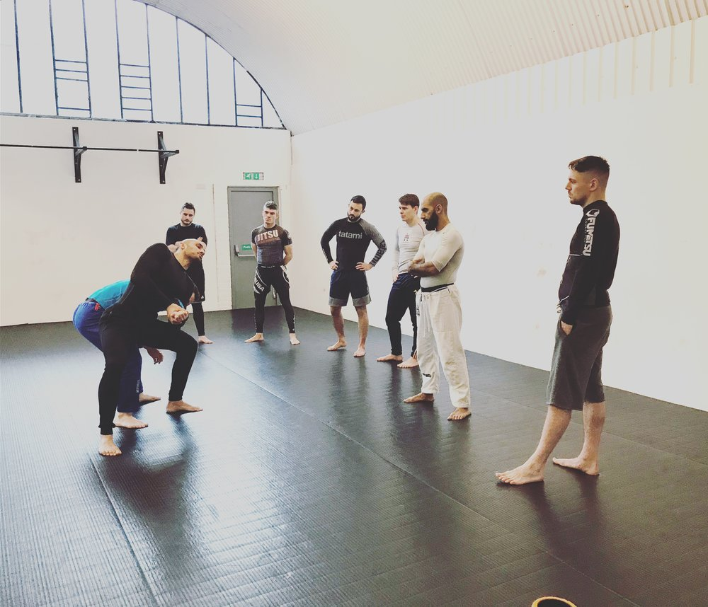 Mixed Martial arts - Learn to combine punching kicking and grappling and how to defend yourself on the ground in thie BJJ focused MMA class. You will learn how to combine all three elements of a fight and which techniques to use to defend yourself in a cage or in a real world scenario. Also it's really fun.