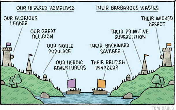 All credit to  Tom Gauld  for this incredibly powerful cartoon.