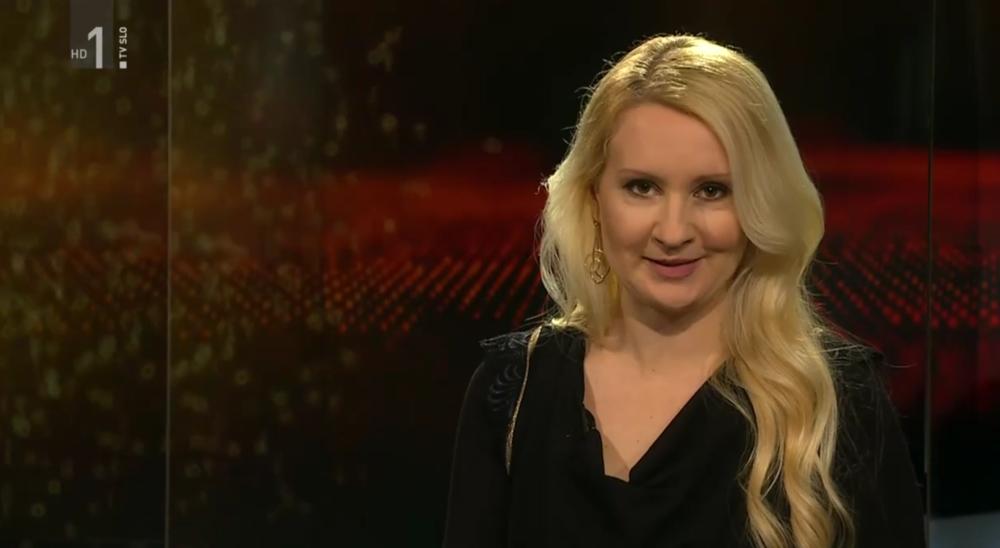TINA ŠROT v oddaji Profil nosi obleko Simona Kogovšek