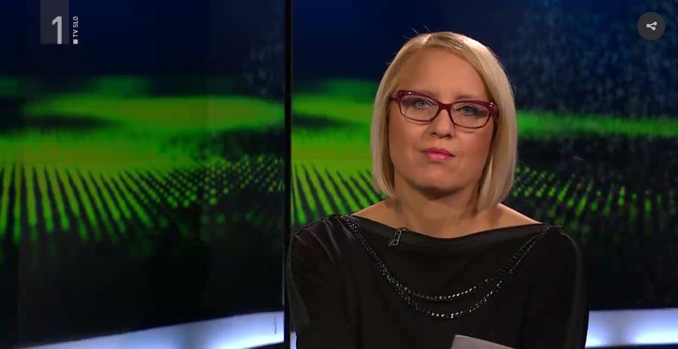 Ksenija Horvat nosi tuniko NI v oddaji Profil