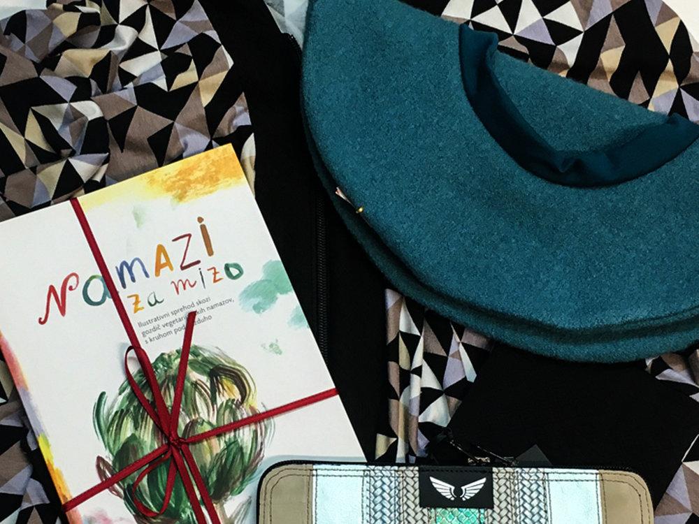Nelizabeta jopa, Klemen Košir knjiga Namazi, baretka Renata Bedene, Zelolepo denarnica