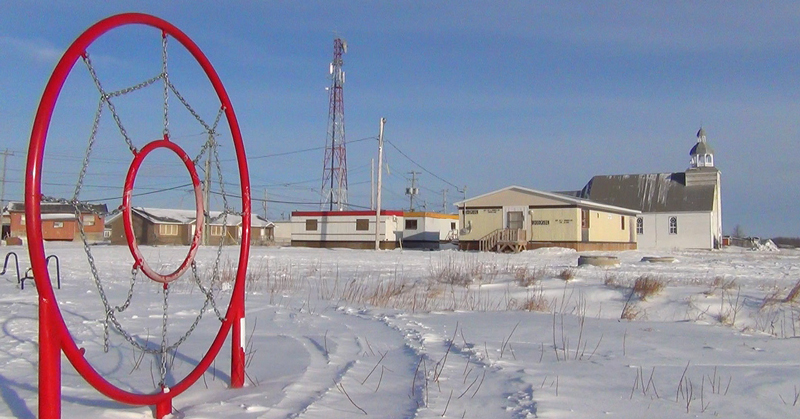 Cold temperatures and low-quality housing put Ontario's First Nations communities at extra risk for fuel poverty. This photo is of the Attawapiskat community. (Source: Toronto Star).