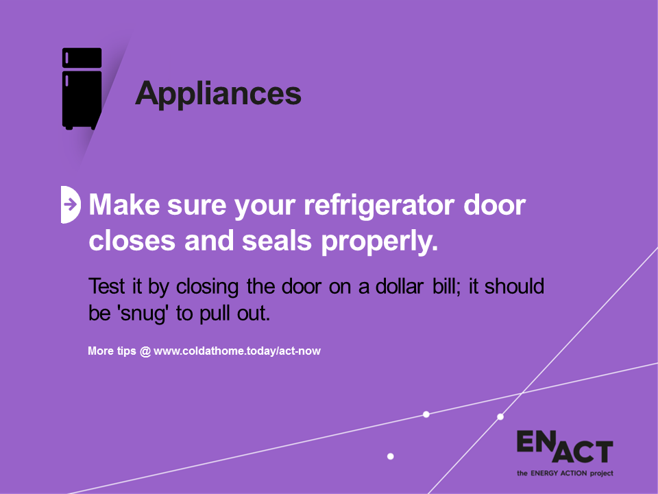 Refrigerator doors need good seals.