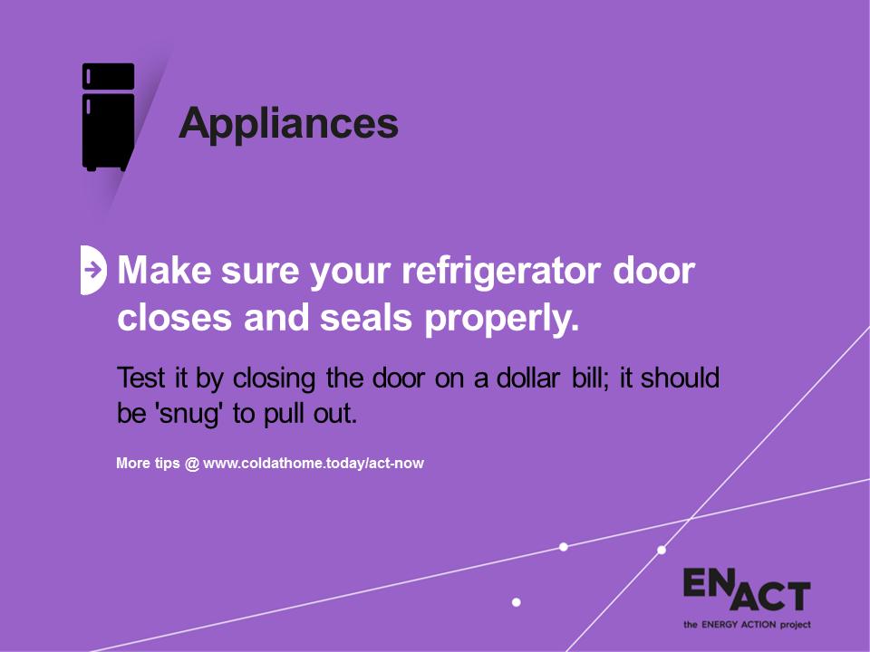 Refrigerator doors need good seals.