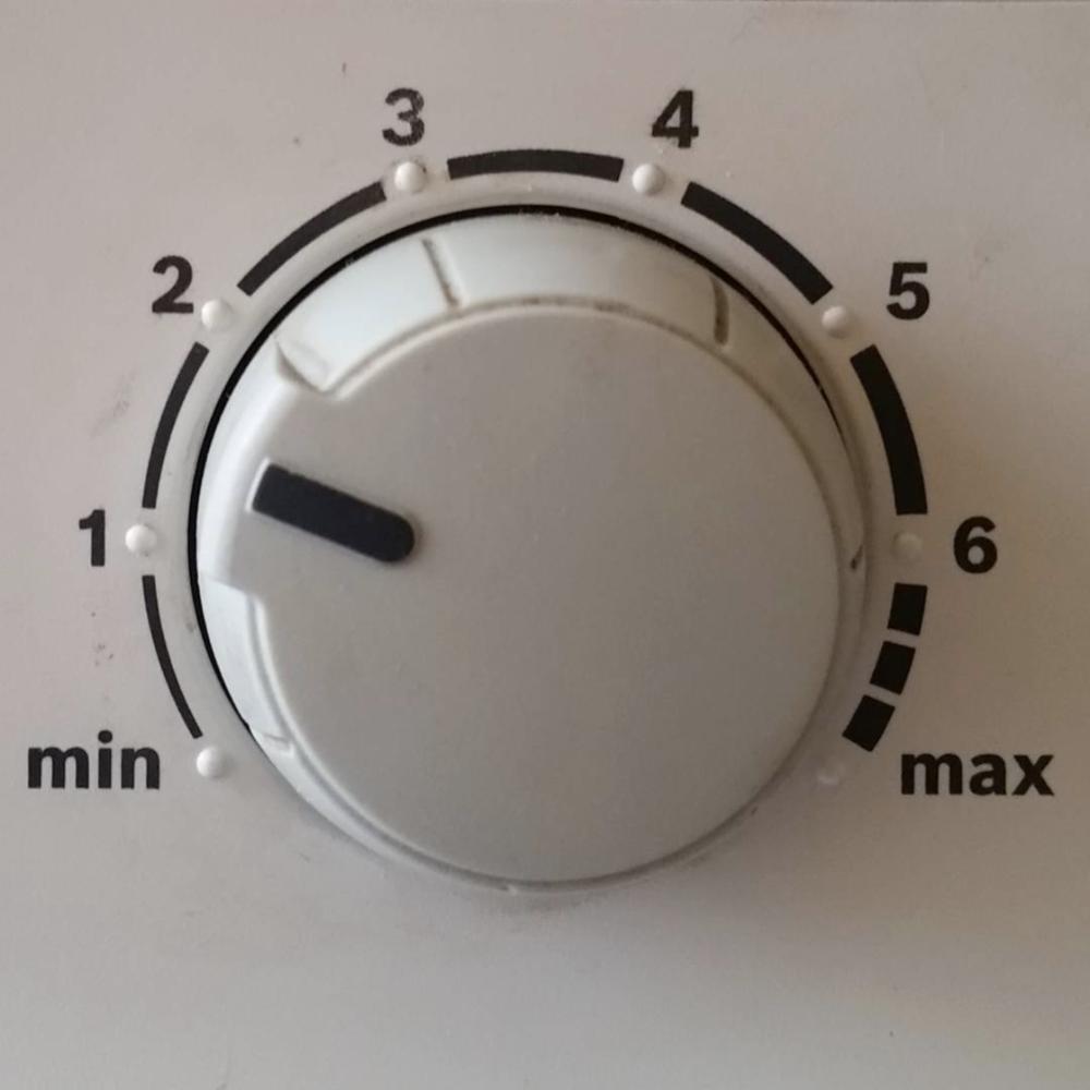 Minimum maximum dial for heating