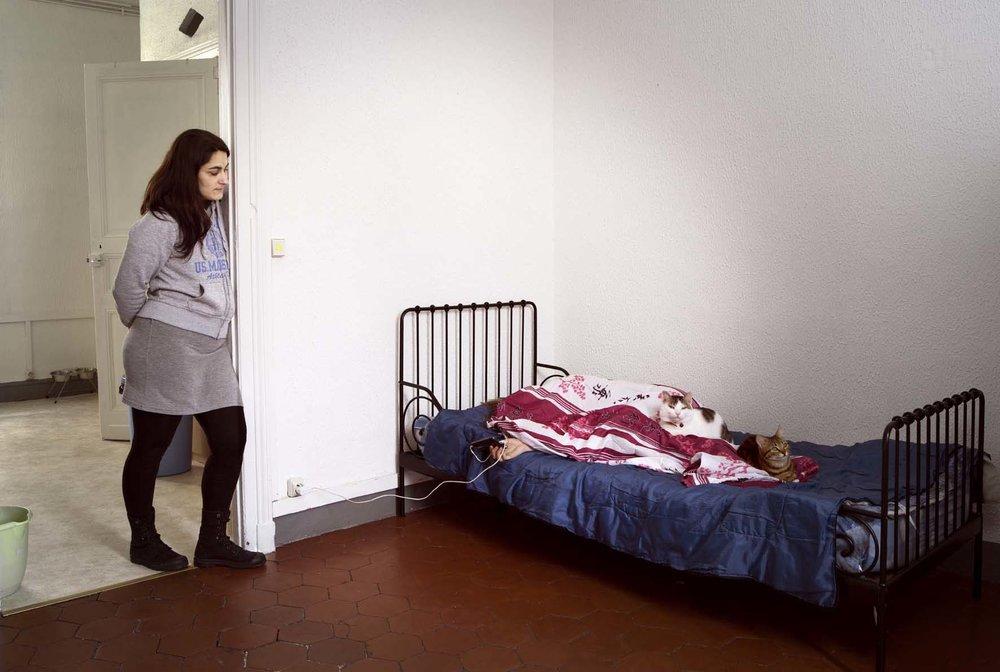 Sète, France • Corinne, 40, single mother, four children, renter.