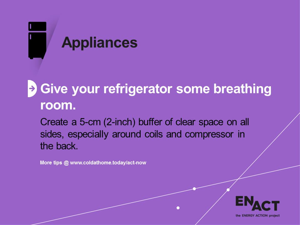 Energy saving tips for kitchen appliances fridges
