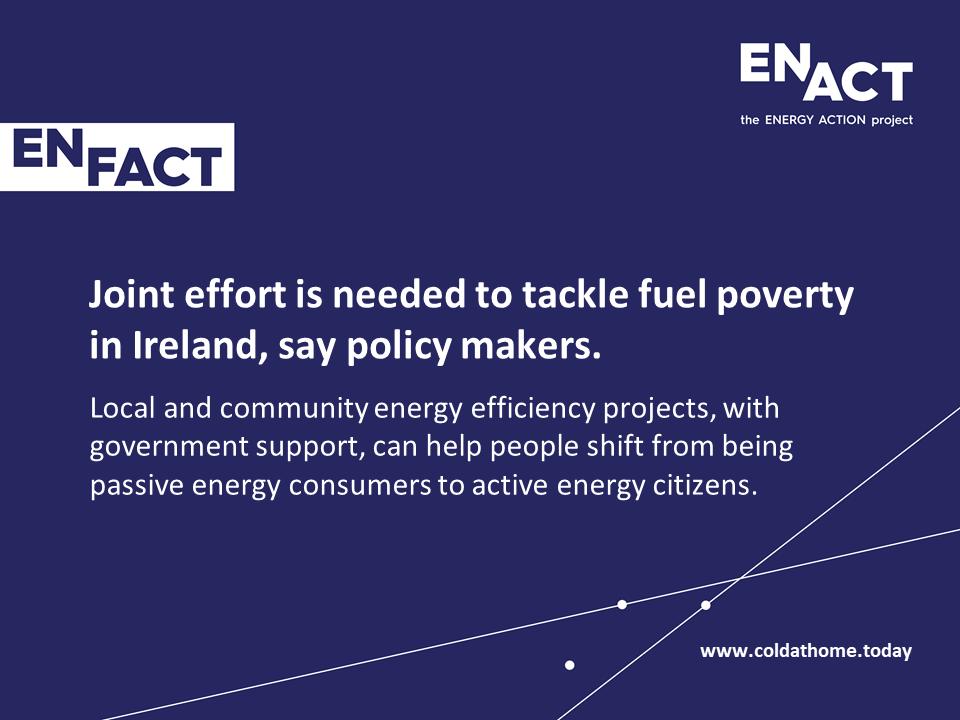 Irish government and community actors tackle fuel poverty