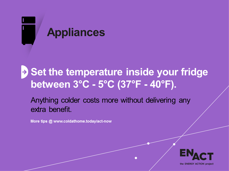 Ideal fridge temperatures