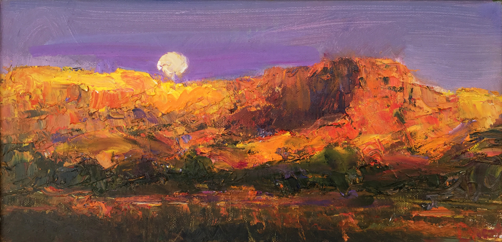 EVENING MOONRISE ABIQUIU