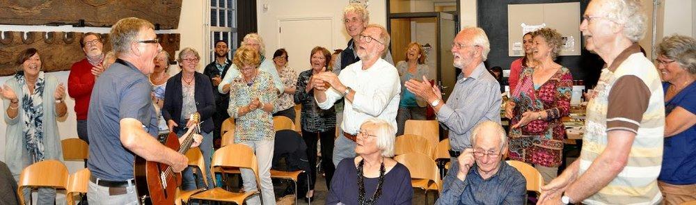 Arie de Bruin tijdens 'Je bent er geweest' georganiseerd door steungroep Culemborg