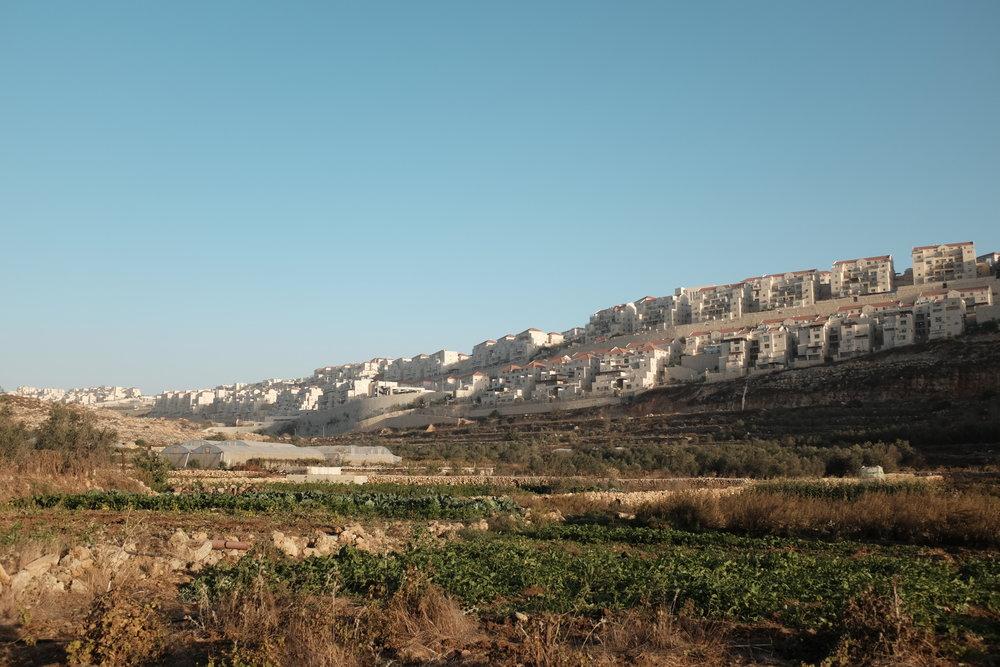 Steeds verder uitbreidende nederzetting bedreigt het dorp Wadi Foukin
