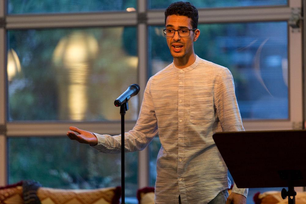 Jalil Deaf bracht spontaan een Spoken Word deze avond