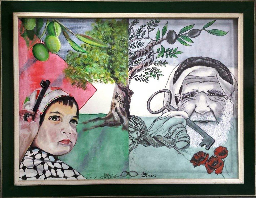 Schilderij 'Our children are the future' gemaakt door Miriam en Henk van Driel
