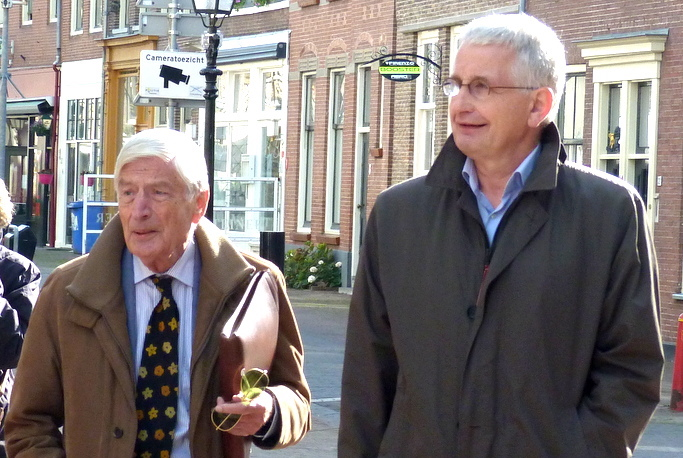 Henri Veldhuis & oprichter van The Rights Forum oud-premier Dries van Agt