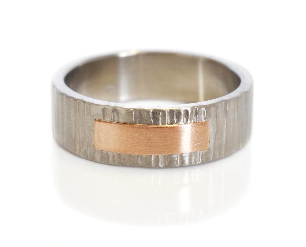 terese-robbie-Custom-Rivet-Ring-14kredrosepinkgold-LinearHammered-950palladium.jpg