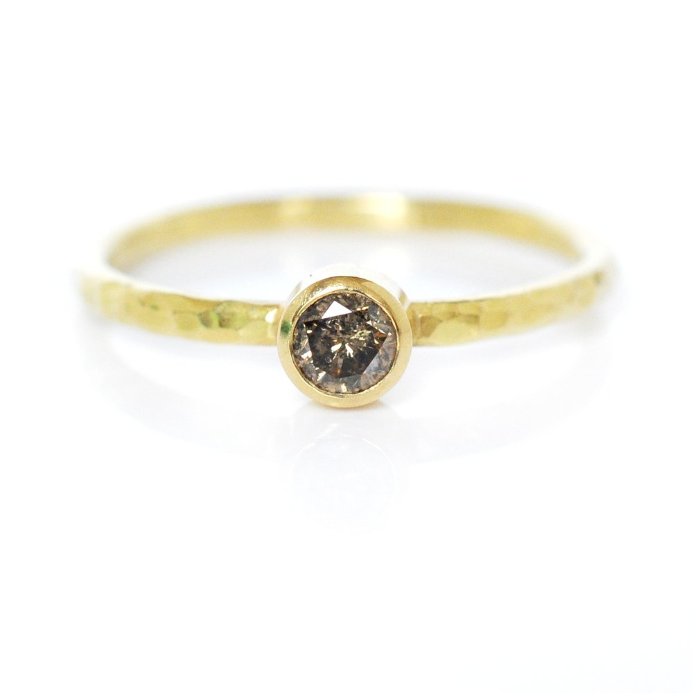 Champagne Diamond Ring Rsd0021 EC Design