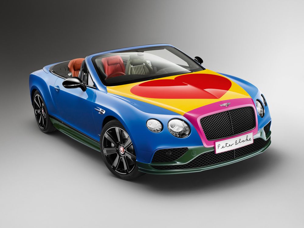 Sir Peter Blake Pop Art Bentley set to raise thousands for Charity.jpg