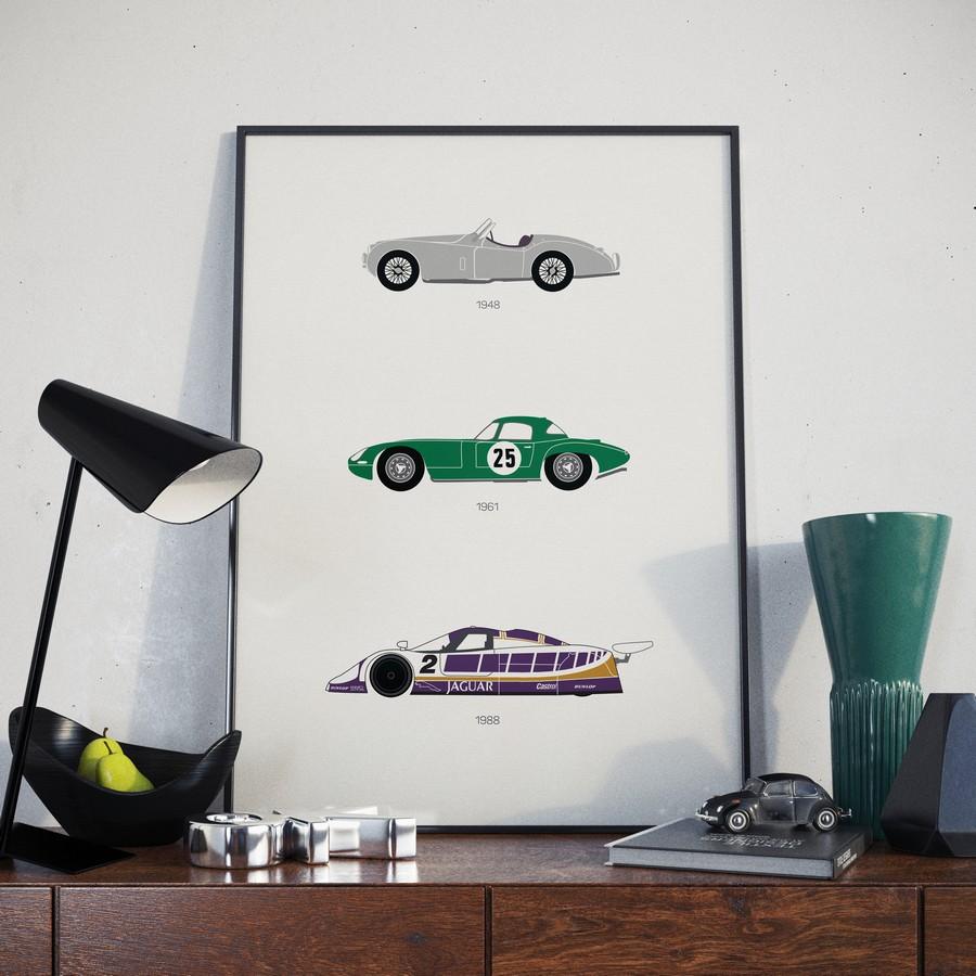 Jaguar Print Green Vase Lifestyle 1 - Rear View Prints.jpg