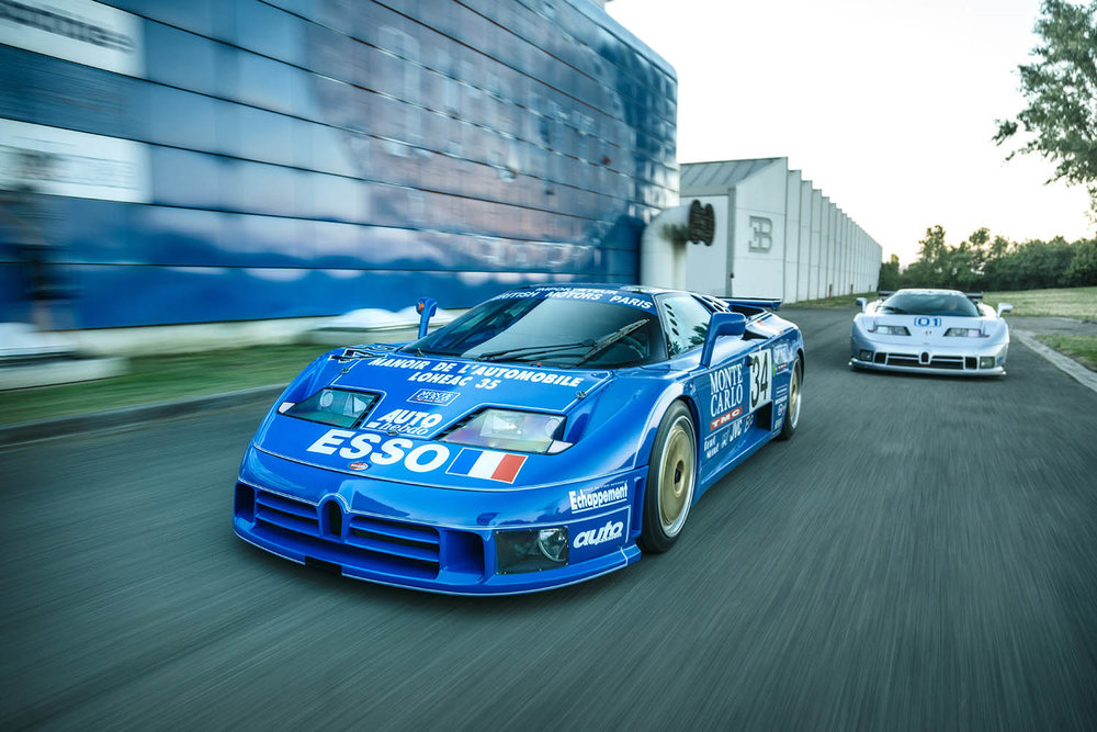 1) The only two factory-prepared racing Bugatti EB110s.jpg