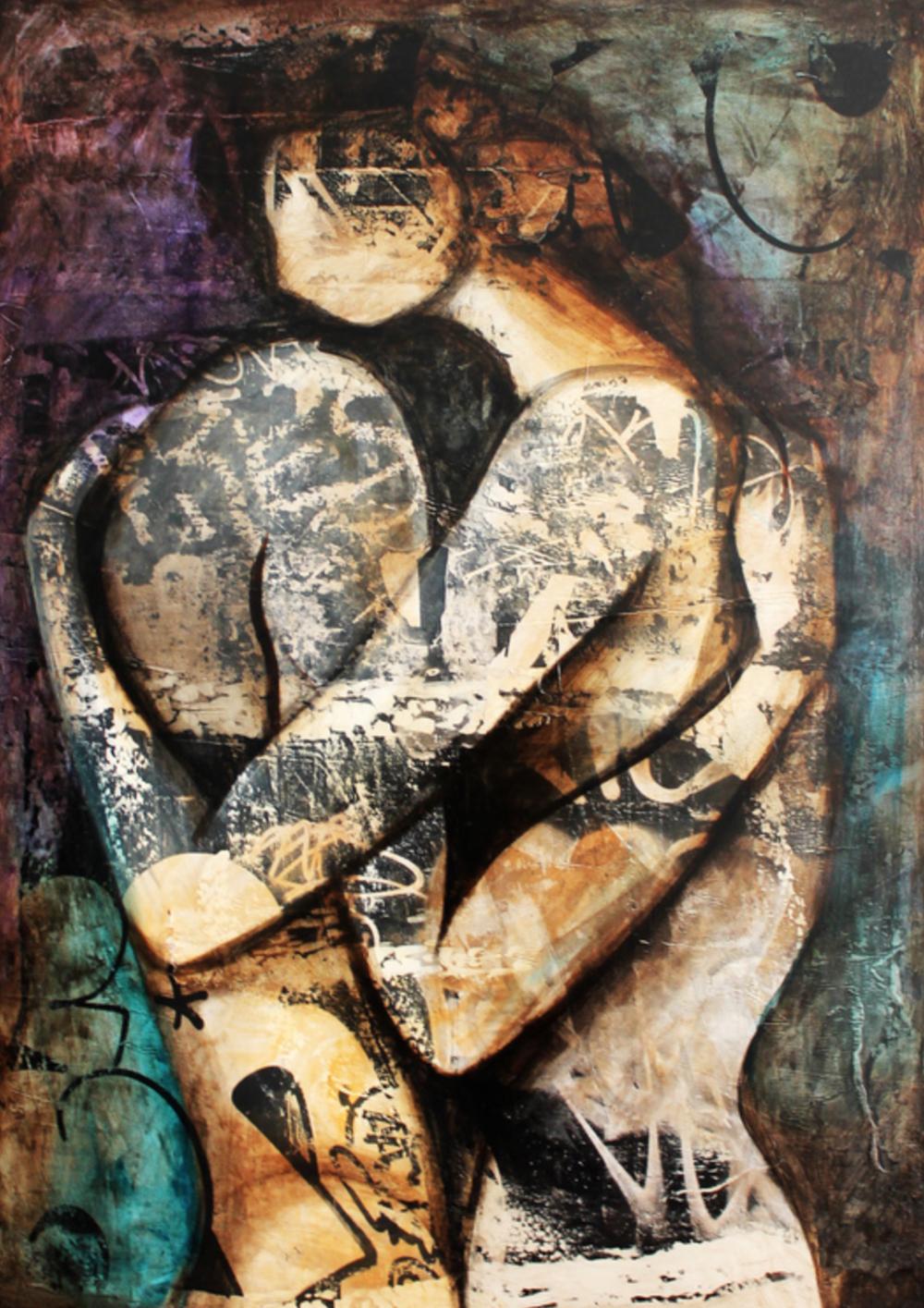 Esteban Kremen - http://www.kremenart.comCollage, oil, acrylic paint, on canvas,