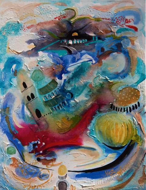 Yoram Gal - http://www.yoramgal.co.ilAcrylic & ink on paper / canvas, my diverse styles as one totality: my joy of life expressionism