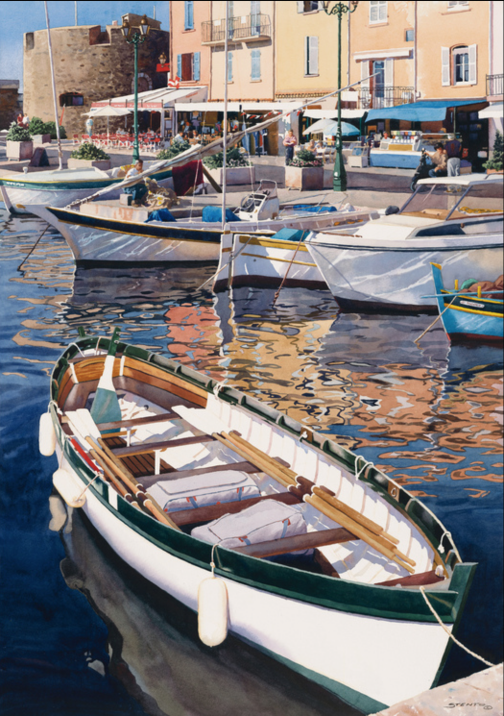 Steve Stento - http://www.stevestento.comI create my watercolors in the traditional manner by applying layers of transparent paint to build a rich, painterly realism that captures the emotion of the scenes I paint.