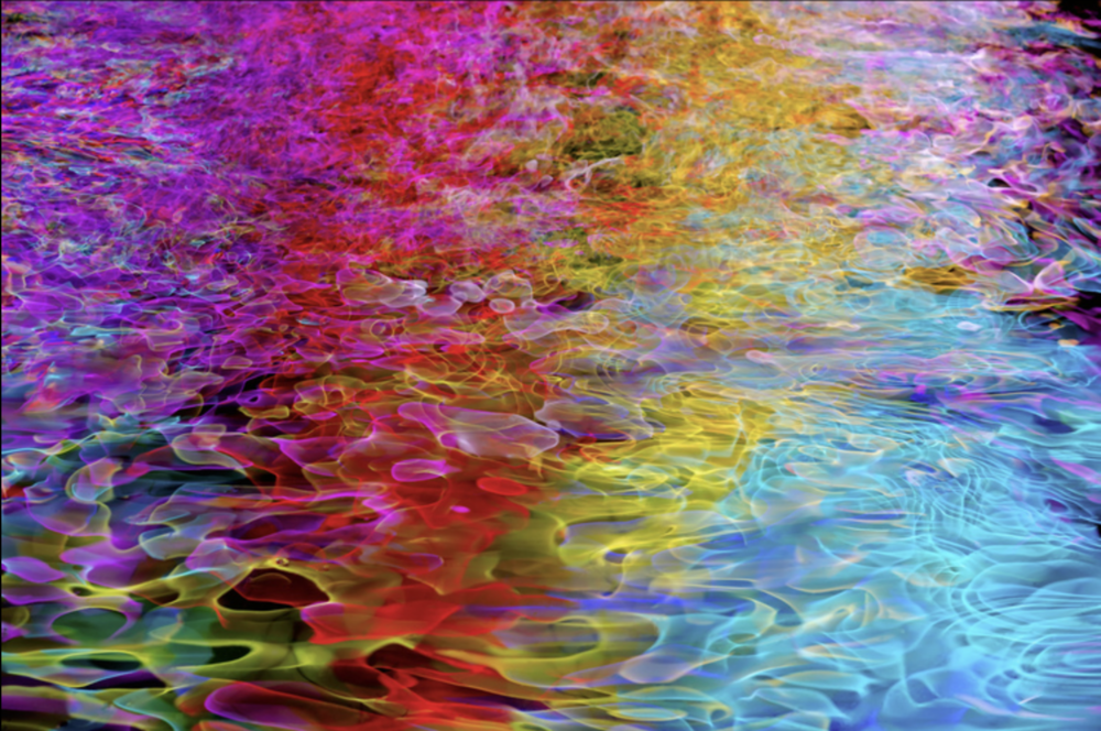 Frank Baer - frankbaerphotos@gmail.comLong Exposure photographs of colored lights and reflections of lights on water. My hand held movements of the camera create the patterns with LED and neon lights. Presented on Acrylic Wood and Metal.