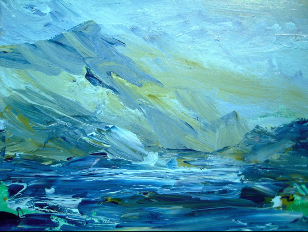 Sally Jordon - http://sallyjordon.artMy abstract expressionistic paintings show a play of color, texture, movement and line. I use a layering technique of oil and acrylic, creating depth, mystery, vibrancy and energy. I love the adventure