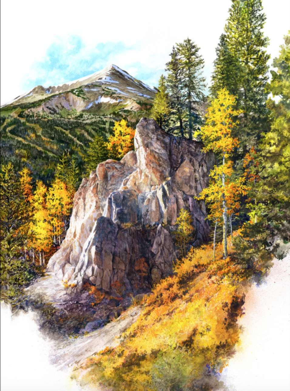 Bruce White - http://brucewhiteartist.comWatercolor/Water Media on Aquabord-Dramatic compositions, negative spaces & textural techniques are employed in these representational interpretations of landscapes & cityscapes from around the world.