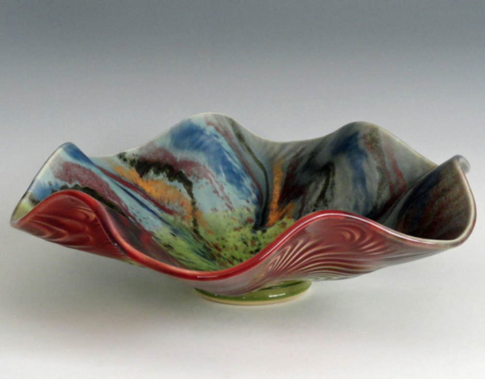 Daniel Marshall - My work is hand-thrown and hand-built porcelain. Each piece is custom glazed and high-fired in a gas kiln.