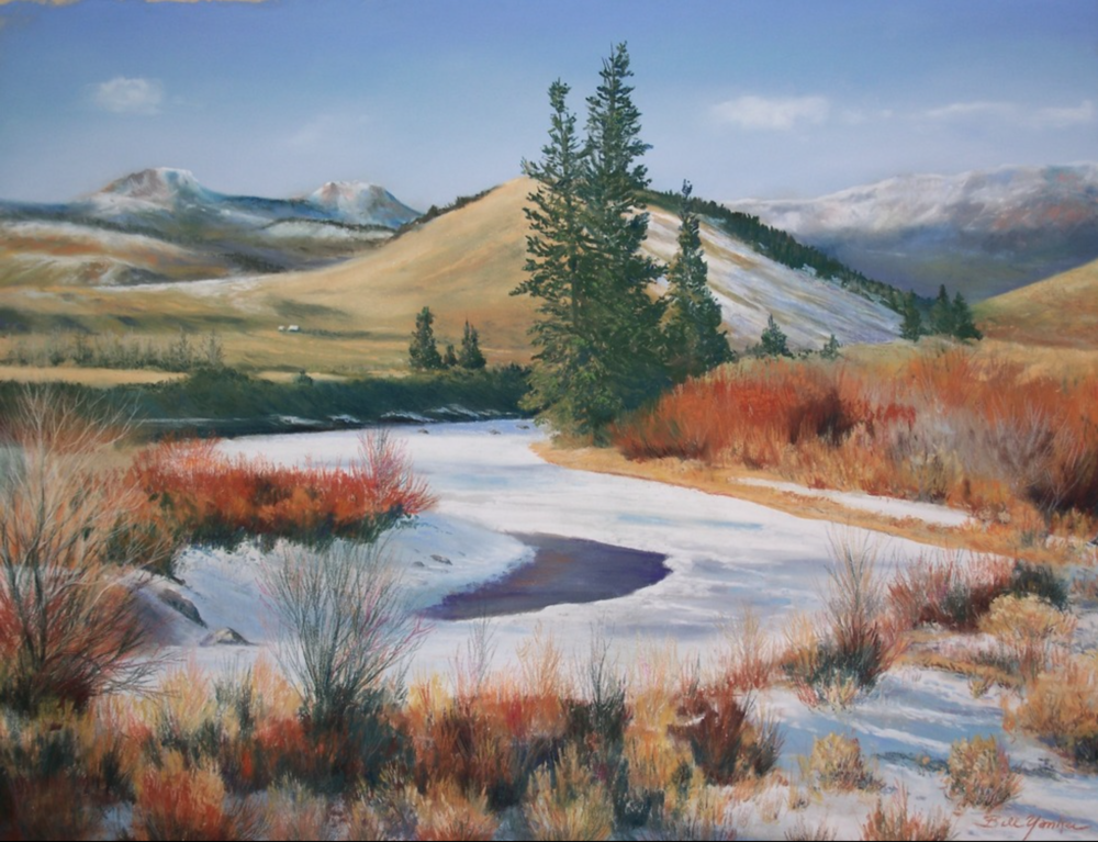 Bill Yankee - http://billyankee.comI work in pastels on sanded archival paper. Primarily landscapes of the Rocky Mountain West. I look for design qualities such as light, color, shape, and texture that are inherent in the landscape.