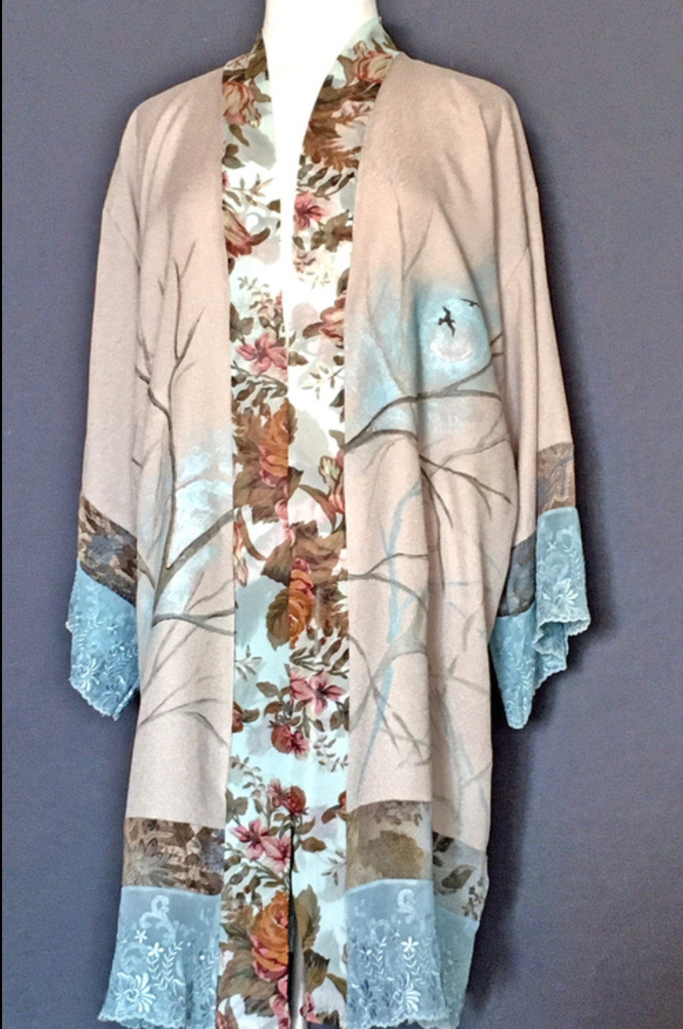 Dinah Lee - http://gowacambria.com,dinahlee.comChris & Dinah sketch out designs on paper,cut their own patterns.We hand paint, air-brush or digital print our fabrics.Silks, cottons and rayon fibers. Shawls,Scarfs,Capes, Jackets,dresses and tops.