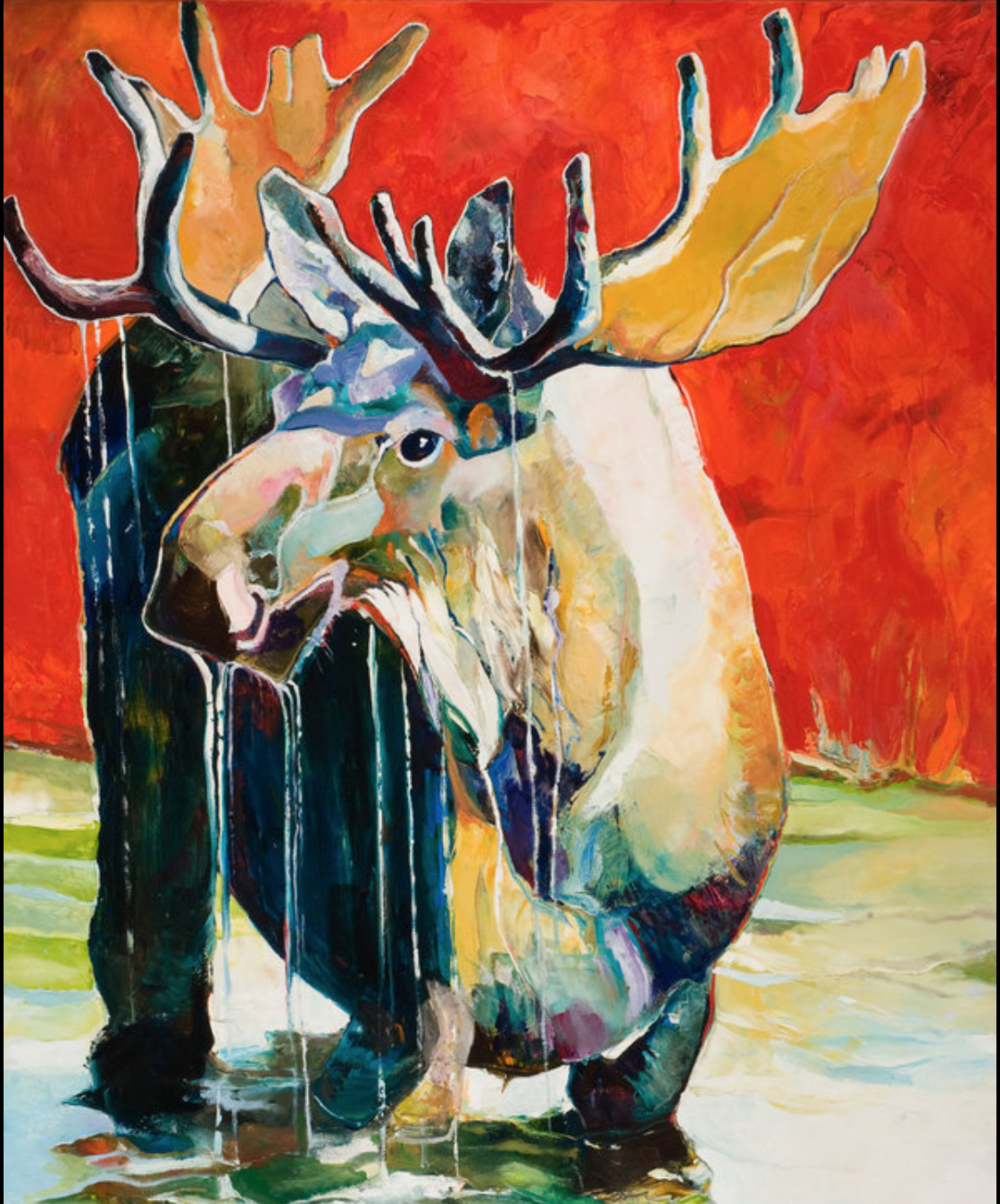 George Jones - http://georgejonesart.comMy oil paintings are big, bold, vibrant, colorful, chunky, and 3 dimensional on canvass. 80% palette knife work. They are happy and fun and generally have true to life form and lines. Strong lines.