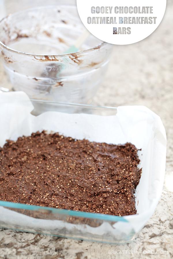 CHOCOLATE OATMEAL BREAKFAST BARS