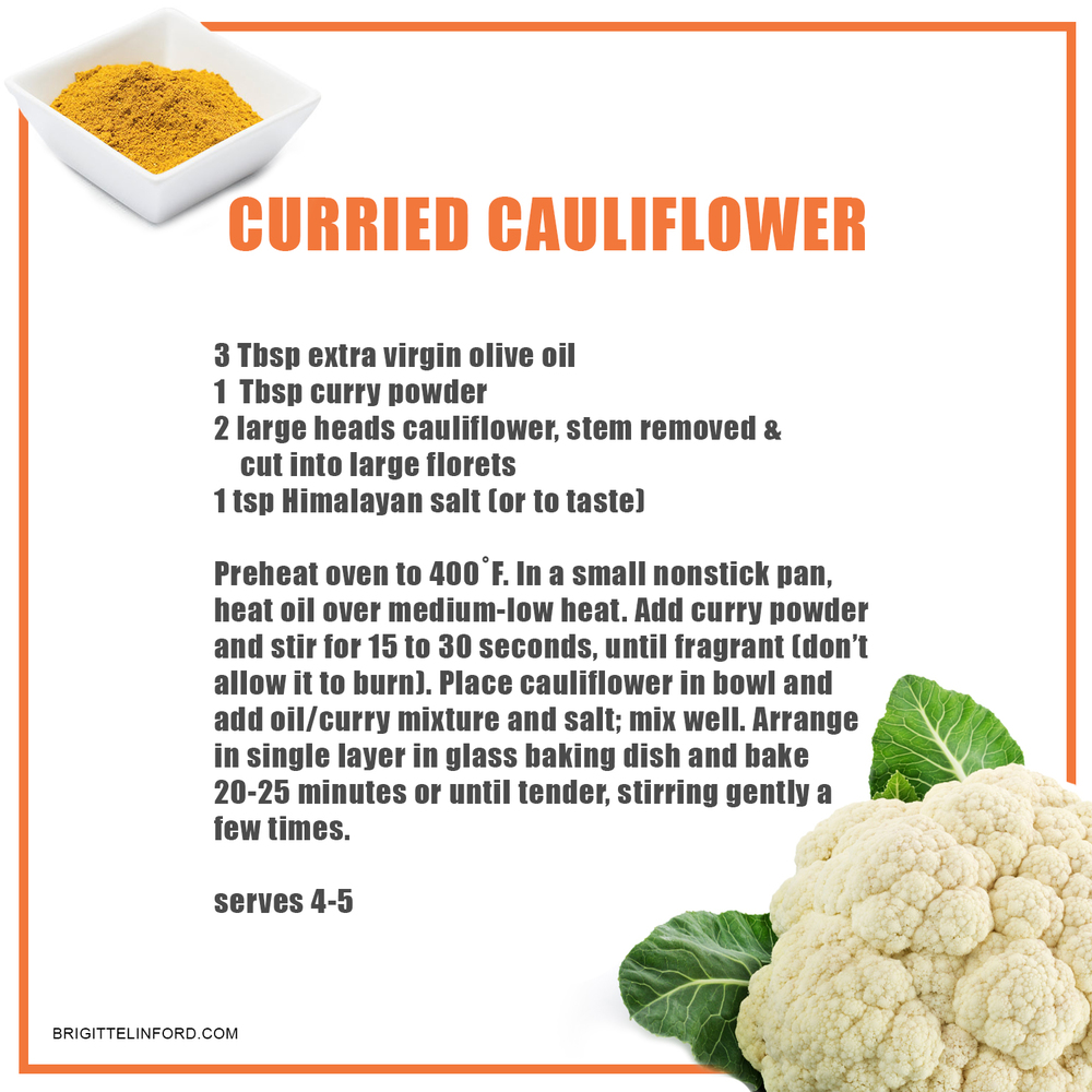 CURRIED CAULIFLOWER RECIPE