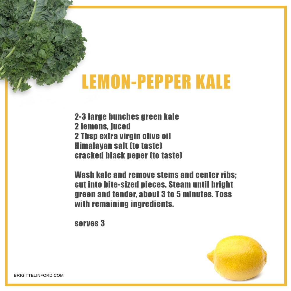 LEMON PEPPER KALE RECIPE