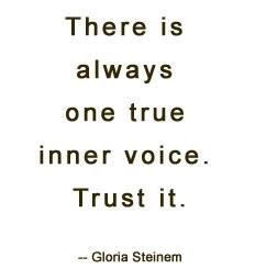 One true inner voice, your SPIRIT.