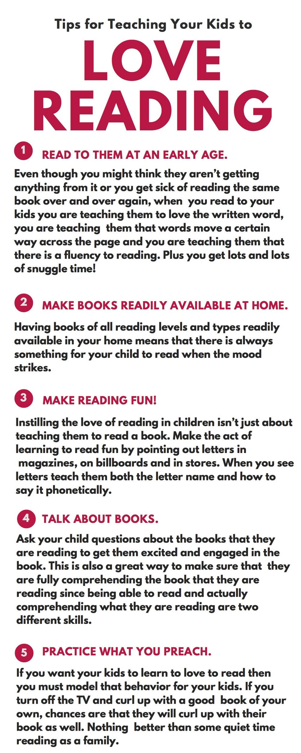 TIP FOR TEACHING KIDS TO LOVE READING!