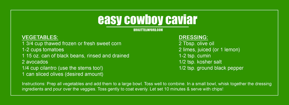 the best recipe for EASY COWBOW CAVIAR