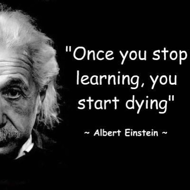 Once you stop learning, you start Dying.