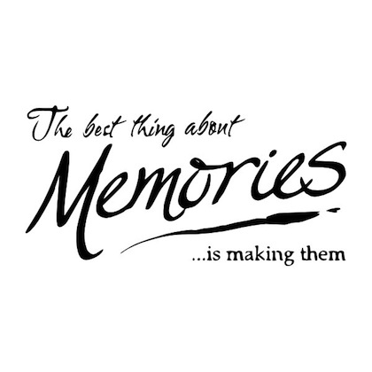 The best thing about Memories is making them!