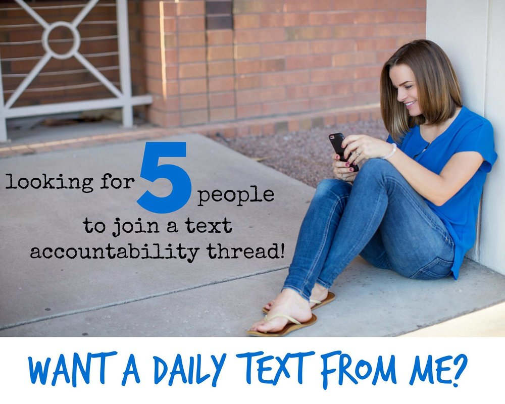 JOIN A NEW YEAR TEXT ACCOUNTABILITY THREAD!